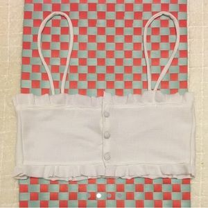 Other - White Bandeau / Bralet!